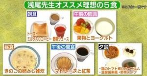 炭水化物ダイエットにオススメ理想の5食